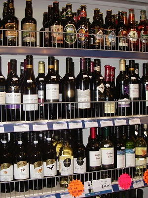 A selection of fine wines, spirits and beers